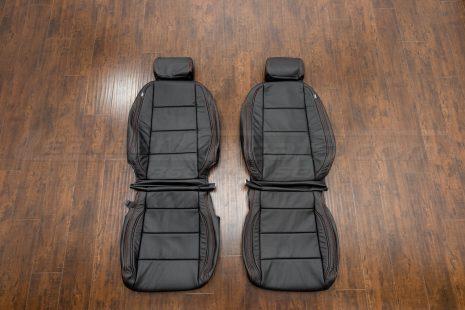 2006-2008 Volkswagen Jetta Leather Kit - Black - Front seat upholstery