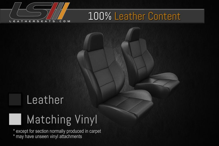 Single Row 100% Leather with carpet sections Leather Content