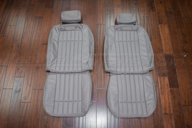 94-96 Chevrolet Impala Leather Upholstery Kit- Smoke - Front Seat Upholstery
