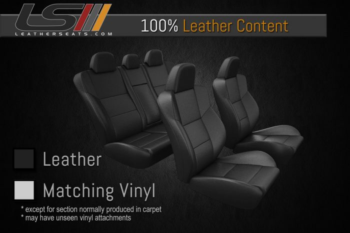 Leather Content - Two Row Interior - 100% Leather with carpet attachments