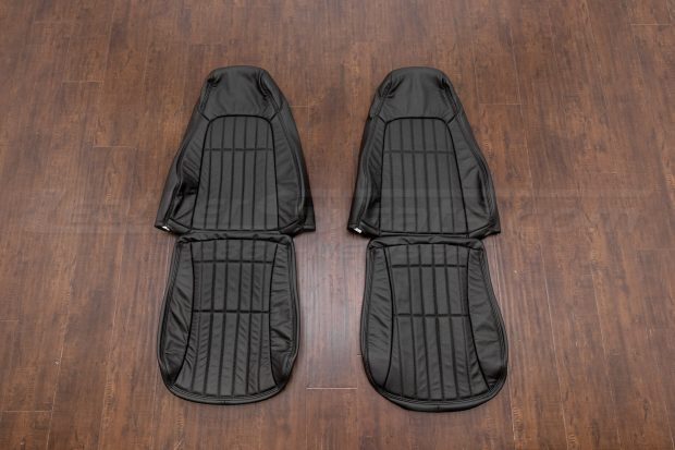 Chevrolet Camaro leather upholstery kit - black - front seats