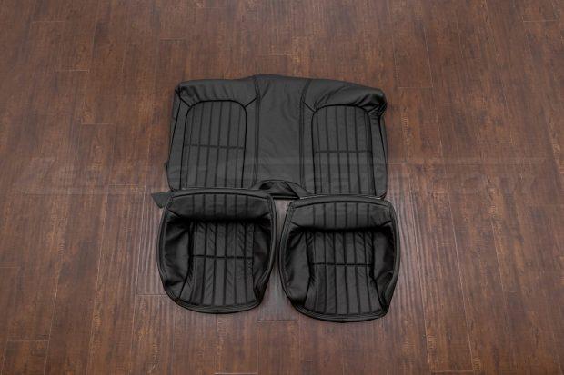 1997-2002 Chevrolet Camaro leather upholstery kit - black - rear seats