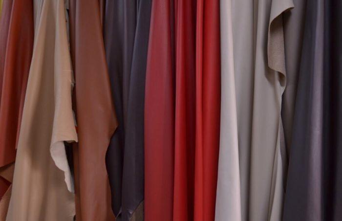 Multi-colored ecstasy leather hide