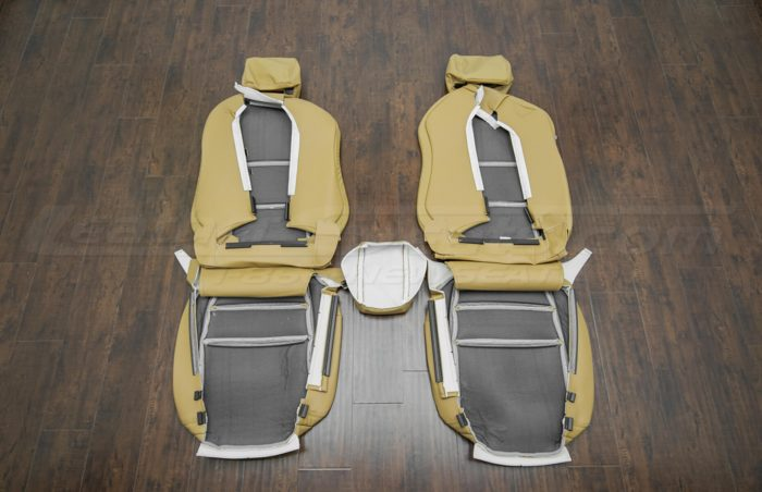 Back view of front seat upholstery -04-06 Acura TL Doeskin kit