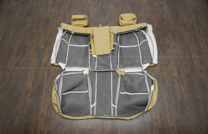 Back view of rear seat upholstery 04-06 Acura TL Doeskin kit