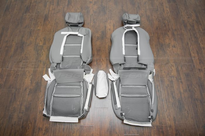 Back of front seat upholstery - 04-06 Acura TL Light Grey