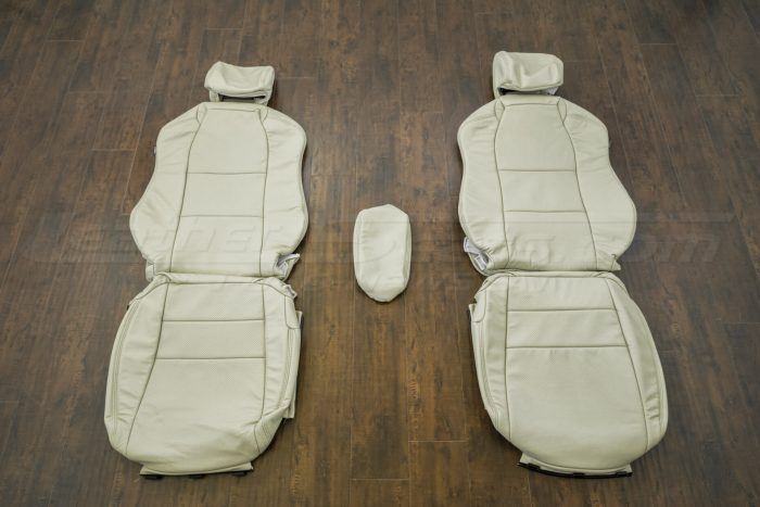 Front seat upholstery w/ console - 04-06 Acura TL Parchment