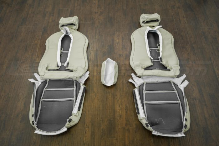 Back of front seat upholstery - 04-06 Acura TL Parchment