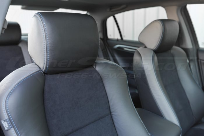 Installed upholstery - headrest view -