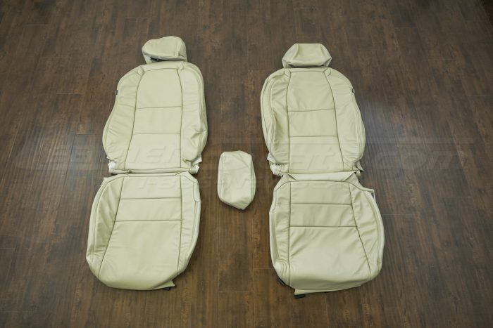 Front seat upholstery w/ console - 07-08 Acura TL Parchment kit