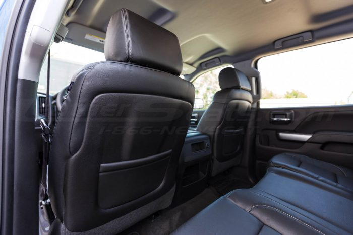 2014-2018 Chevrolet Silverado LeatherSeat Kit - Black - Installed - Back of front seat