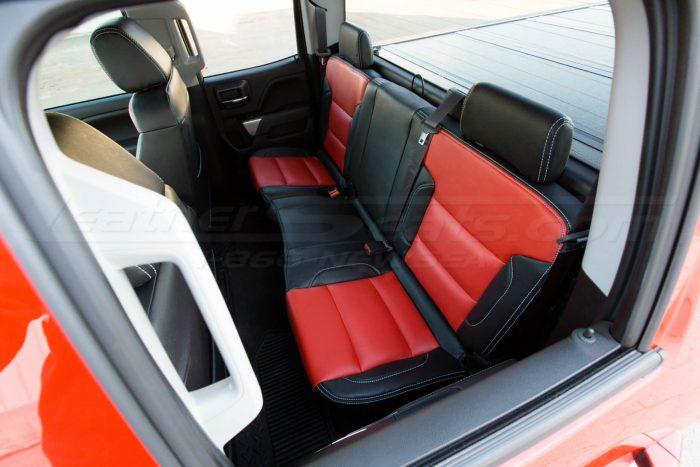 Chevrolet Silverado Black & Bright Red installed - Overhead rear seats
