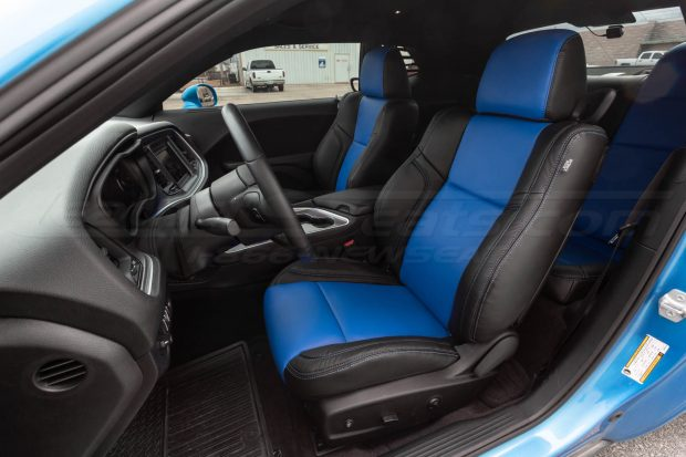15-20 Dodge Challenger Two-Tone Black w/ Cobalt Centers