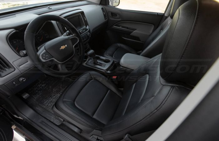 Installed 15-20 Chevrolet Colorado Leather Kit - Black - Front driver seat overhead