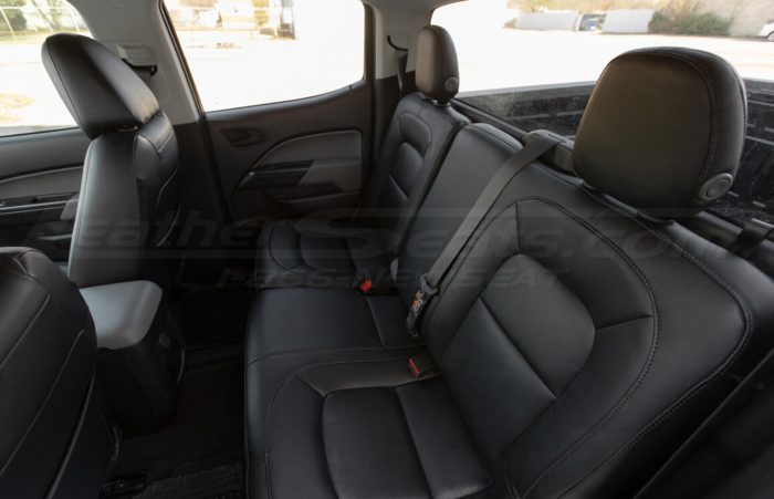 Installed 15-20 Chevrolet Colorado Leather Kit - Black - Overhead rear seats