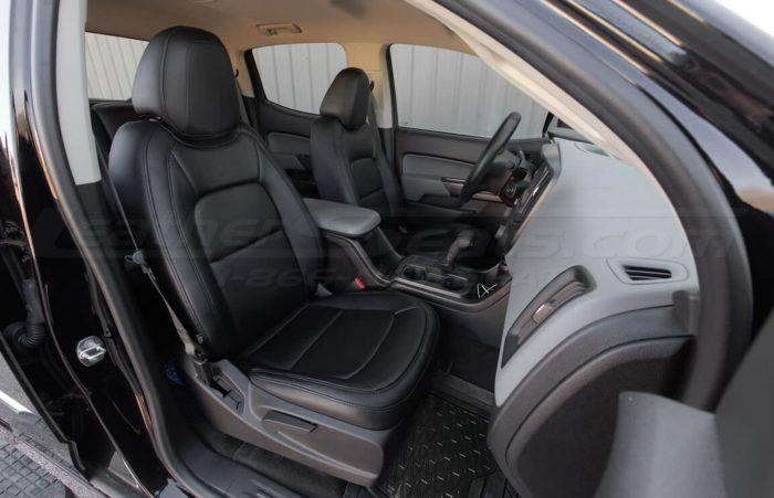 Installed 15-20 Chevrolet Colorado Leather Kit - Black - Passenger side