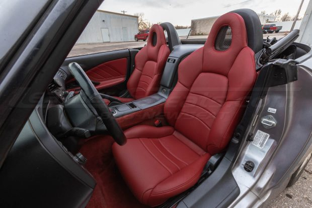 Honda S2000 install - Cardinal - Front driver seat