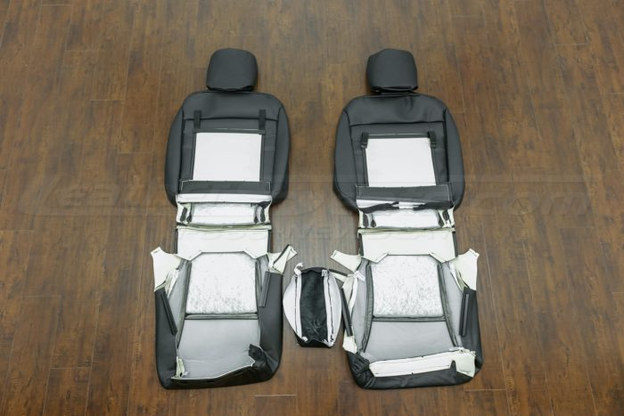 2014-2015 Honda Civic Upholstery Kit - Black - Back view of front seats and console lid cover,