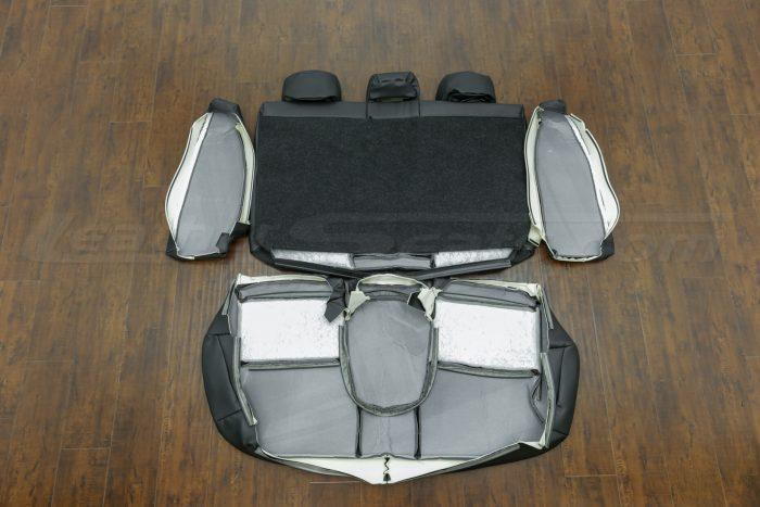 2014-2015 Honda Civic Upholstery Kit - Black - Back view of rear seats
