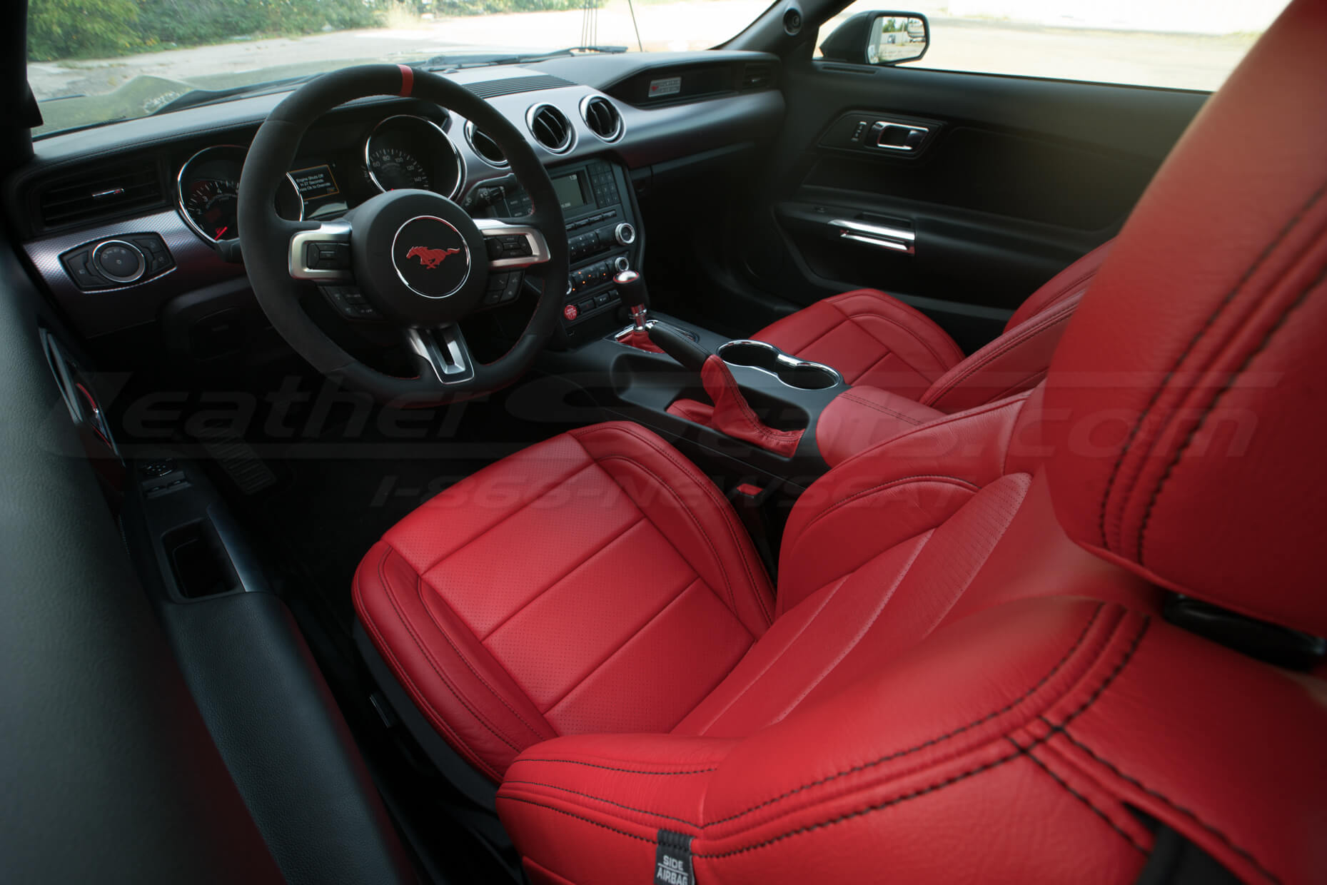 2015-2020 Ford Mustang install - Bright Red - Cushion