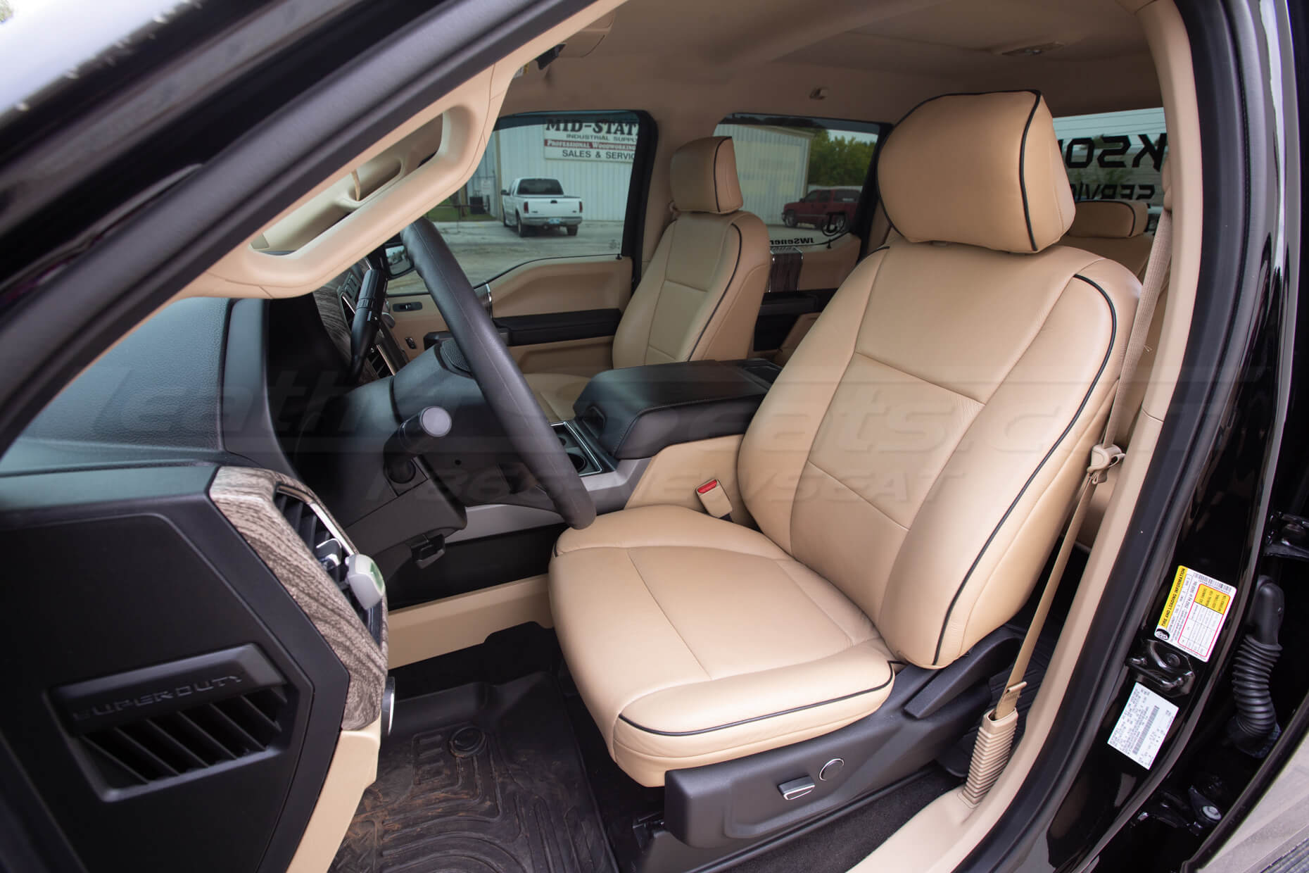 Ford Superduty Install - Bisque.- Front driver seat