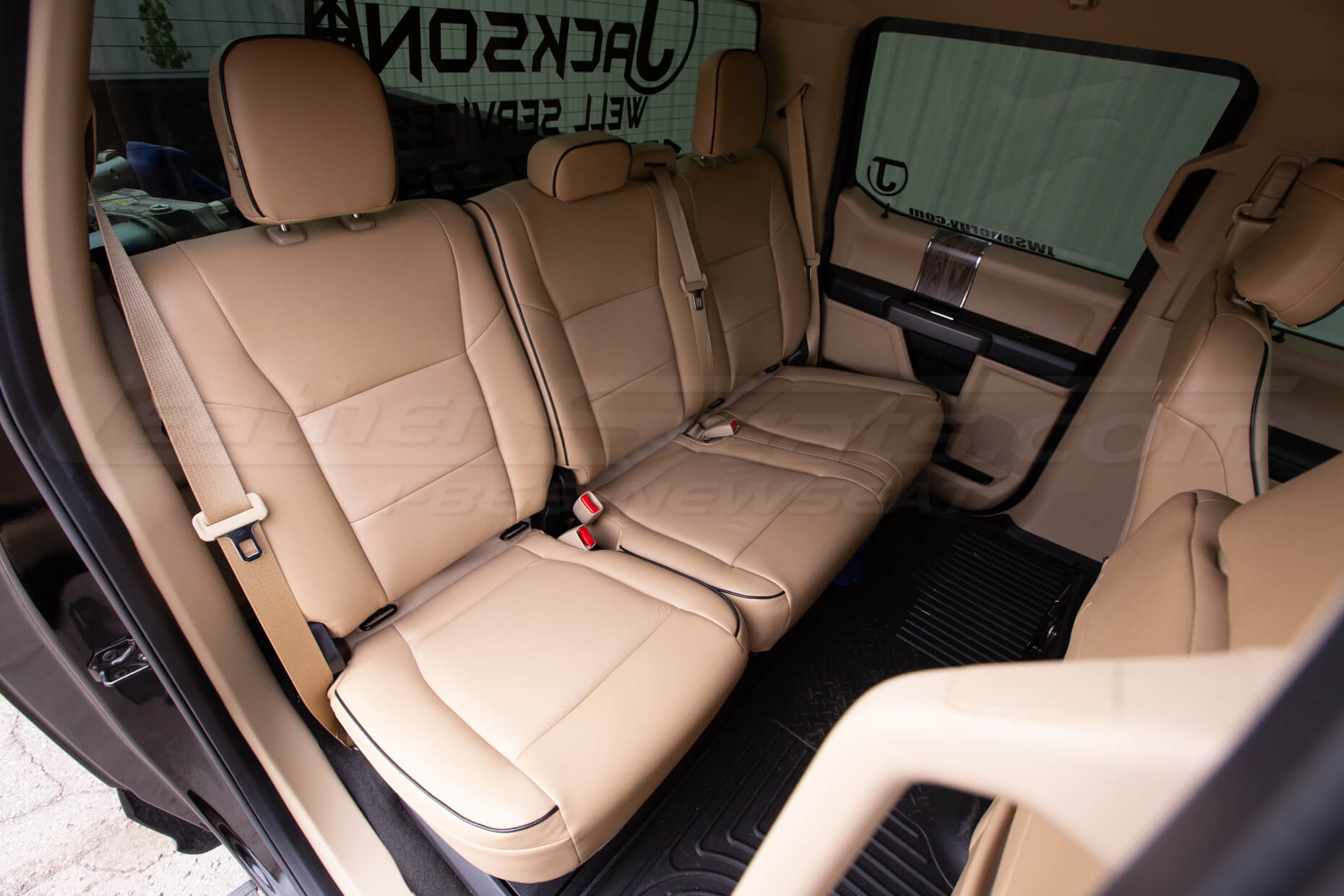 Ford Superduty Install - Bisque - Rear seat overhead