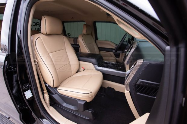 Ford Superduty Leather Seats - Installed - Front interior wide angle