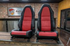 Toyota MR-2 leather seats - Black & Red - Front seats