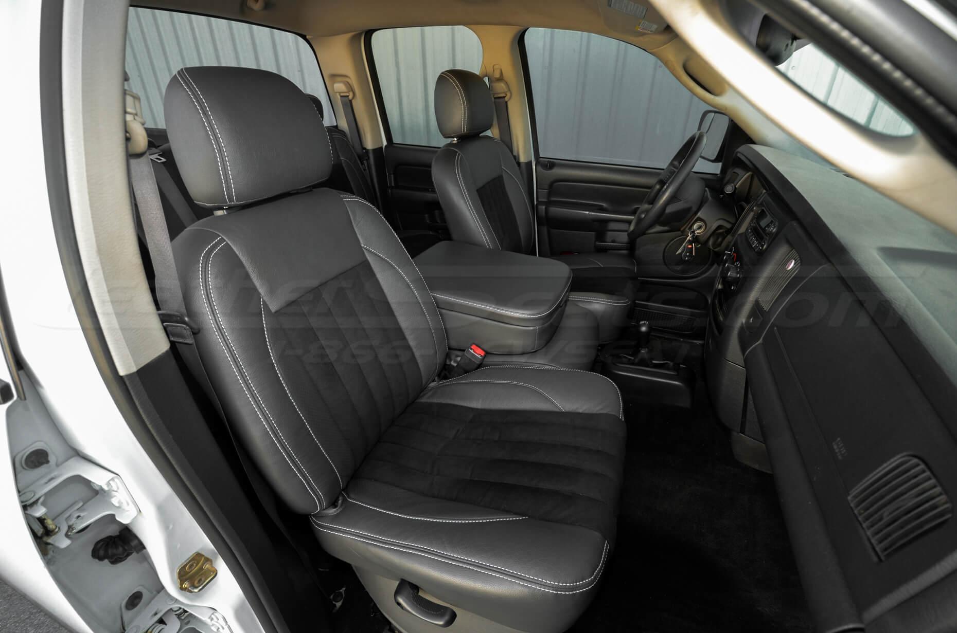 2003-2005 Dodge Ram Installed - Dark Graphite w/ Black Suede - Front Passenger