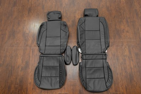 Nissan Titan Upholstery kit - Black - Front seat upholstery with armrest