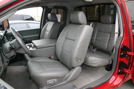 2004-2011 Nissan Titan Single-Tone Graphite w/ matching double-stitch - Front driver