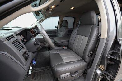Dodge Ram Installed Upholstery Kit - Graphite & Light Grey