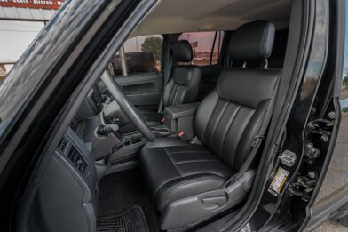 Jeep Liberty installed leather kit - Black - Featured Image