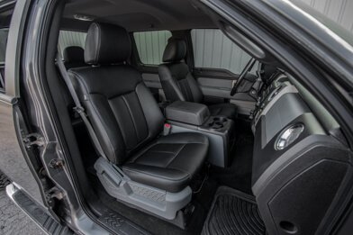 Ford F-150 installed leather kit - black - Featured image