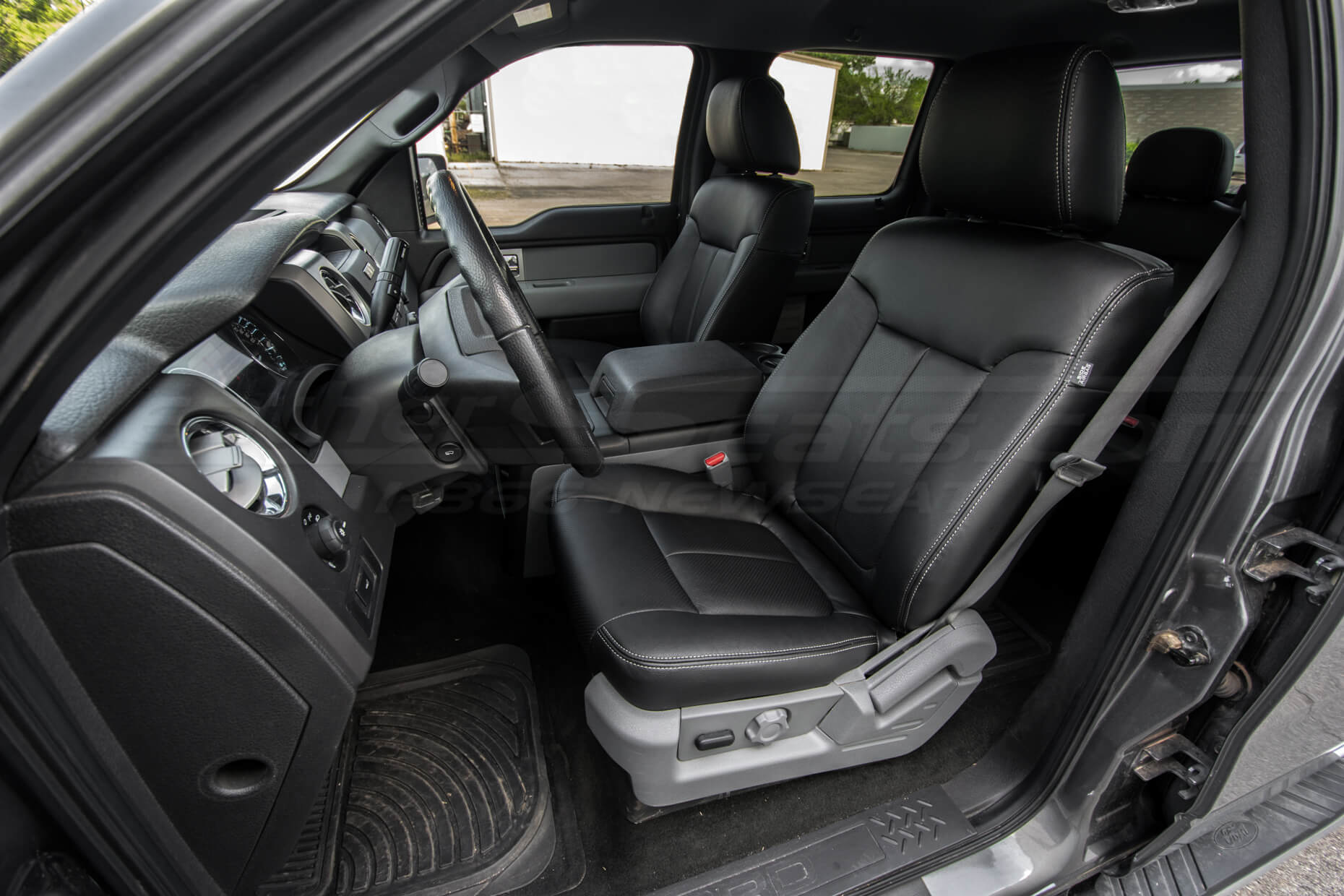 Ford F-150 Upholstery Kit - Black - Installed - Front seats - drivers side