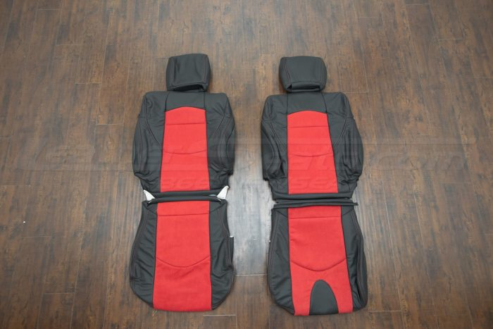 Nissan 370Z upholstery kit - Black w/ Red Suede