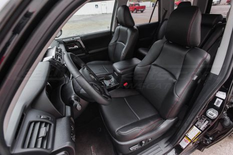 2010-2018 Toyota 4Runner Single-Tone Black Double-Stitched in Red