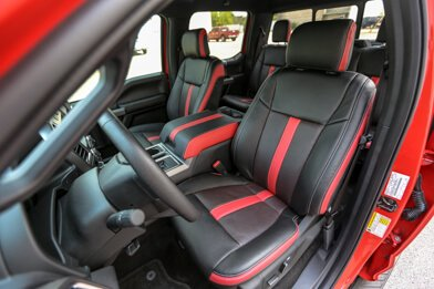 Ford F-150 installed kit - Black & Piazza Red