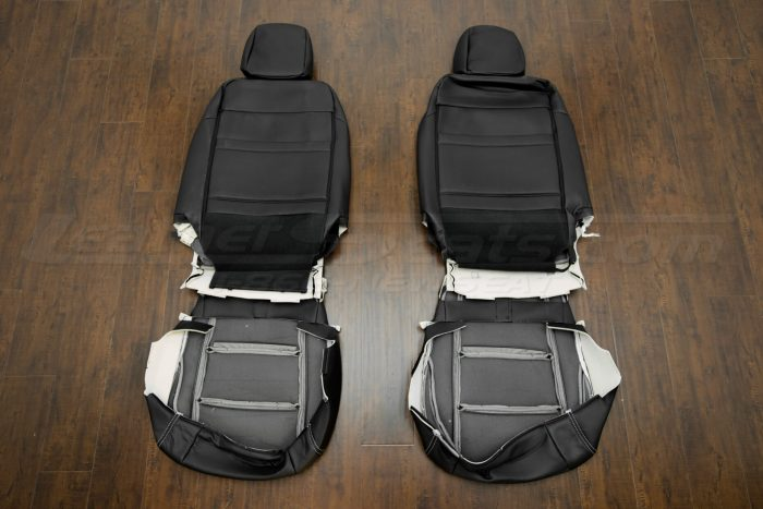 Back view of front seats