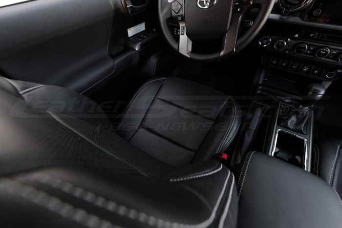 2016-2020 Toyota Tacoma Leather Seats - Black - Installed - Front backrest and seat cushion