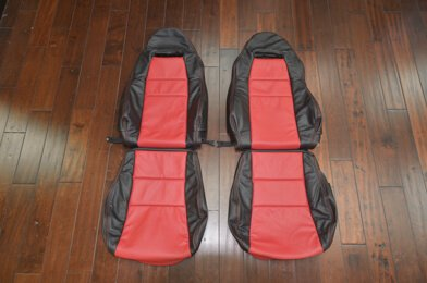 Toyota MR-2 Upholstery Kit - Black & Red - Featured Image