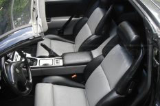 1990-1996 Nissan 300ZX Leather Seats - Black & Stone - Front interior from drivers side