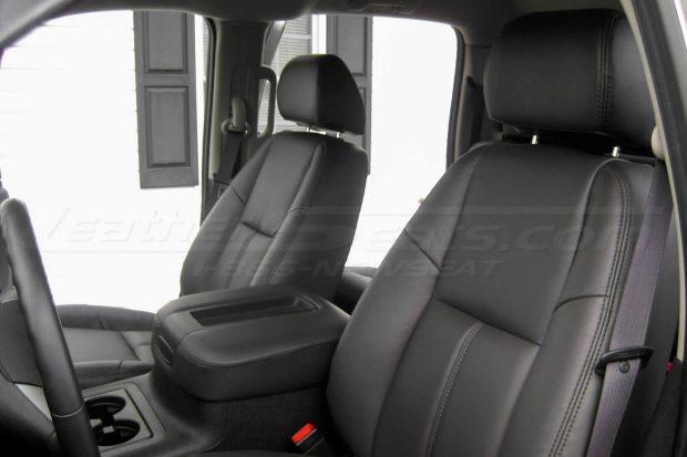 Black Silverado Leather Interior