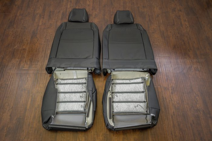 Jeep Wrangler Upholstery Kit - Black - Back view of front seats