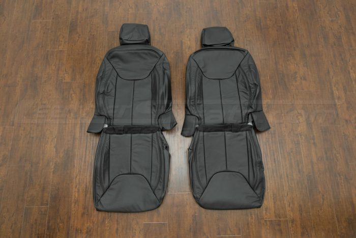 Jeep Wrangler Leather Seats - Black - Front seats