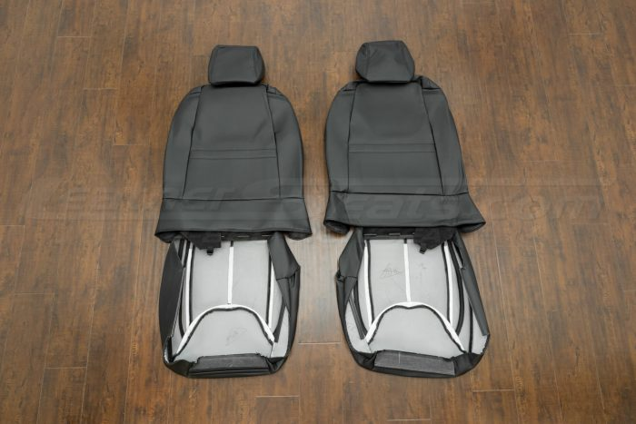 Jeep Wrangler Leather Seats - Black - Back of front seats