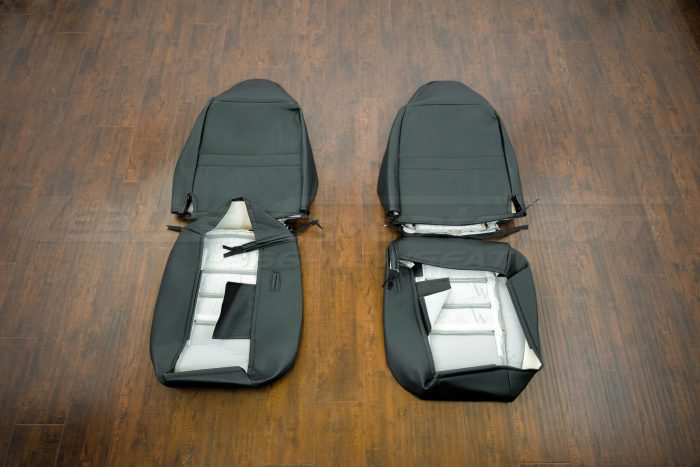 Jeep Wrangler Upholstery Kit - Black & Bisque - Back of front seats