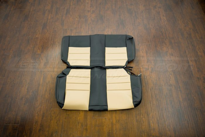 Jeep Wrangler Upholstery Kit - Black & Bisque Rear seats