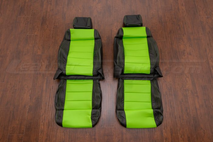 Jeep Wrangler Upholstery Kit - Black & Lime Green - Front seats