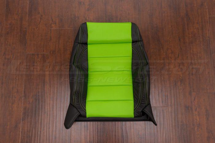 Jeep Wrangler Upholstery Kit - Black & Lime Green - Front backrest